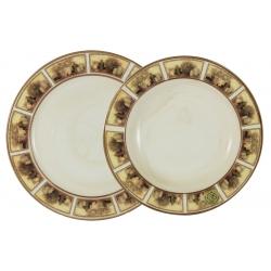 Набор тарелок:суповая и обеденная «Натюрморт» Суповая - 23,5 см, Обеденная - 25 см