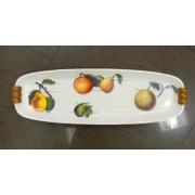 Блюдо овальн. узкое с деревян. ручками 63см «Эмилия»