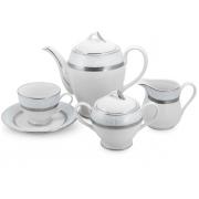Сервиз чайный 12 перс 41 пр Серый с платиной