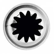 Насадка конд. «12-конечная звезда», сталь нерж., D=35/22,H=35мм, металлич.