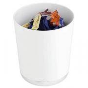 Контейнер для мусора настол., пластик, D=13,H=15см, белый