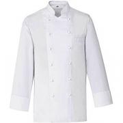 Куртка поварская,р.50 без пуклей, полиэстер,хлопок, белый