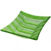 Блюдо «Лайн» 30*20см зеленое