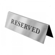 Табличка «Зарезервировано»
