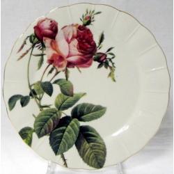 Набор из 6 обеденных тарелок «Роза Альба» (красная)