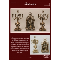 Пара канделябров «Тысяча и одна ночь» 5 свечей каштан 45х27 см.