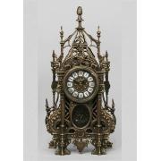 Часы «С ландышами» с маятником каштан 46х24 см.
