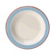 Тарелочка для масла «Рио Блю», фарфор, D=10.2см, белый,синий