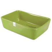 Форма для запекания 22x15x7 см прямоугольная зеленая