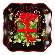 Набор тарелок квадратных десертных 21,5см «Винтаж Новогодний»