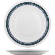 Блюдо круглое «Риалто» D=293, H=23мм; белый, зелен.