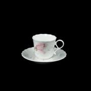 Набор 6 кофейных пар 100мл «Апрельская роза»