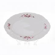 Блюдо овальное 34 см «Роза серая платина 5396021»