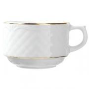 Чашка чайн «Афродита» с зол.190мл фарфор