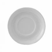 Блюдце «Кашуб-хел», фарфор, D=17см, белый