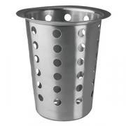 Емкость для столов. приборов «Проотель», сталь, D=12/8,H=14см, металлич.