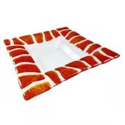 Тарелка глубокая «Сафари», стекло, H=35,L=290,B=290мм, прозр.,оранжев.