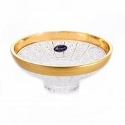 Ваза для конфет 15,5 см «Cнежинка с золотом 2»