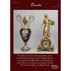 Часы «Данубе» золото 62х29 см.
