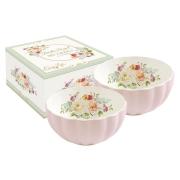 Набор из 2-х салатников Королевский сад (розовая)