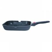 Сковорода-гриль 28 см,антипригарное покрытие,алюминиевая,квадратная,со съемной ручкой, Solution Red