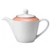 Чайник «Рио Пинк»; фарфор; 310мл; белый,розов.