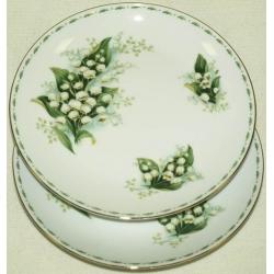 Набор из 2-х тарелок «Ландыши» 20 см.