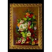 Картина 60x90 см. «Цветы»