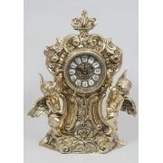 Часы с 2-я амурами половинки золотистый 33х24 см.