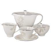 Сервиз чайный 17 пр. на 6 персон «Жемчужная роза»