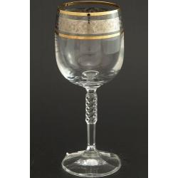 Рюмка для вина 150 мл Карина декор панто+комбинация платины и золота