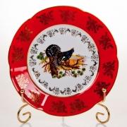Набор тарелок «Мария - Охота красная» 19 см.
