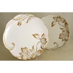 Набор из 2-х закусочных тарелок «Золотой тюльпан» 19 см