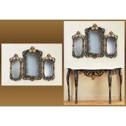 Зеркало-трюмо синий 82х106 см.