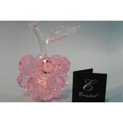Яблоко маленькое розовое, прозрачный лист d 30 9х12 см