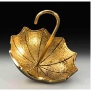 Пепельница-зонтик цвет - золото 9х9см