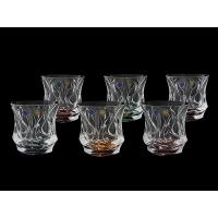 Набор разноцветных стаканов 6 шт для виски Ocean