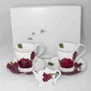 Набор 5 пр чайный на 2 персоны «Чёрная роза»