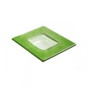 Тарелка квадр «Бордер» 13*13см зеленая