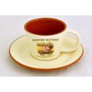 Чашка с блюдцем «Деревенское утро» 0,2 л