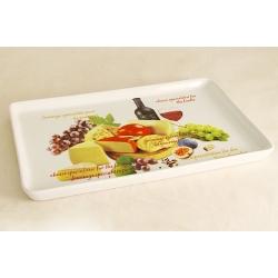 Блюдо прямоугольное «Сыр, вино и виноград» 30х19 см
