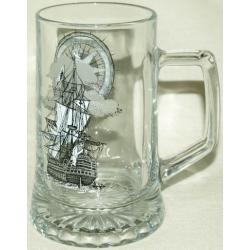 Пивная кружка стеклянная «Фрегат»