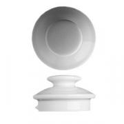 Крышка для чайника «Прага» 0.75л,1.2л, фарфор, D=10,H=5см, белый