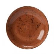 Салатник «Крафт»; фарфор; D=29см; терракот