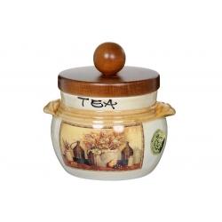 Банка для чая с деревянной крышкой «Натюрморт» 0,5 л