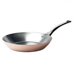 Сковорода d=24см, медь/нерж.