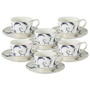 Набор 12 предметов Элегия: 6 чашек + 6 блюдец