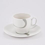 Набор 6 кофейных пар 200мл «Атласная лента»