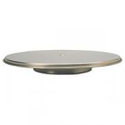 Подставка для торта вращ., сталь нерж., D=300,H=38мм