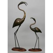 Пара фламинго кашт.92х35см,63х33см